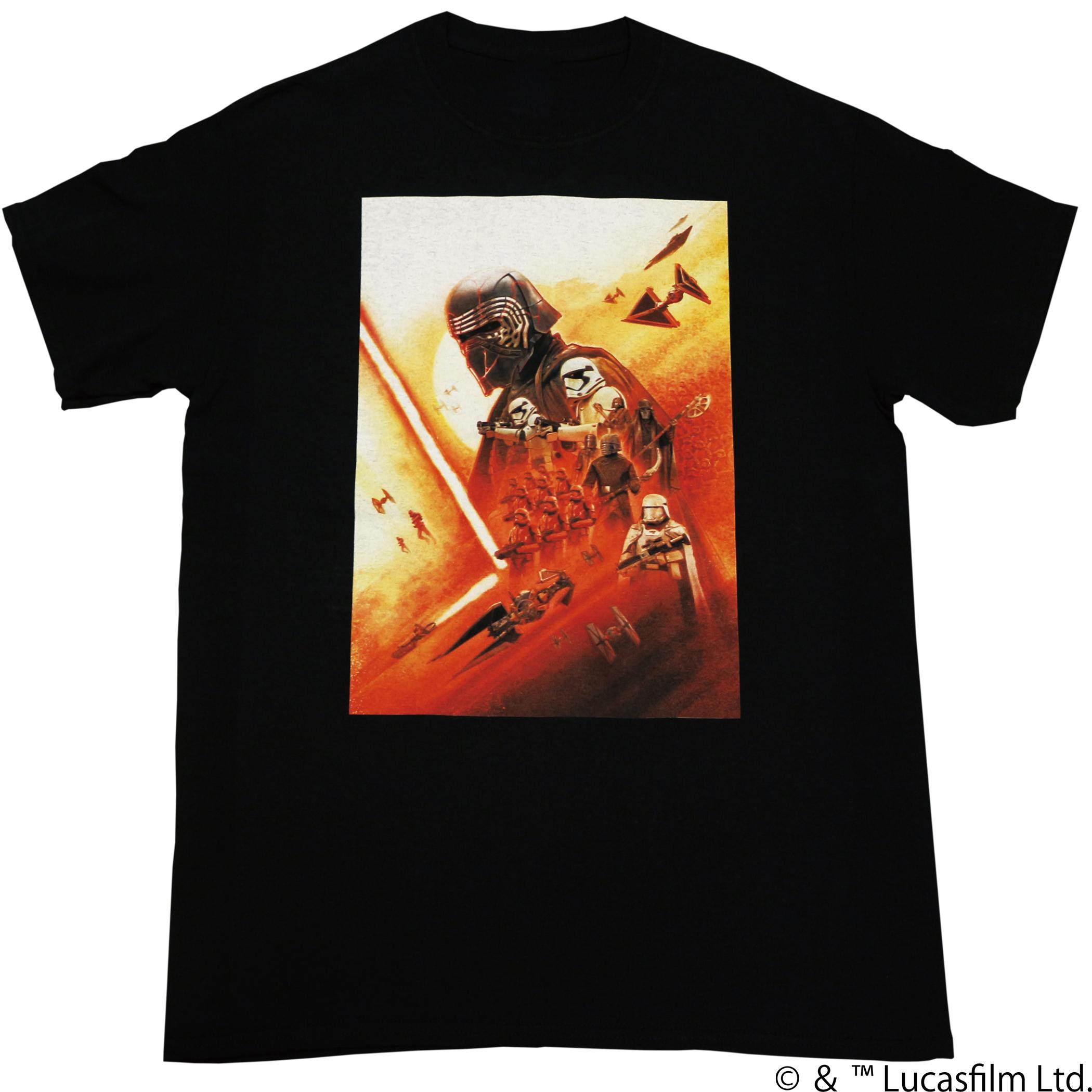 【スター・ウォーズ】エピソードIX アート ファーストオーダー 両面プリントTシャツ