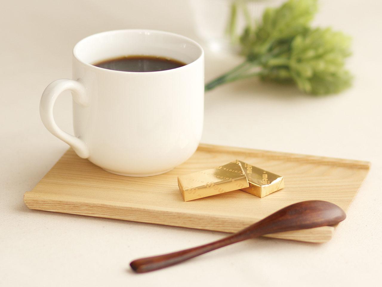 送料無料! 日本製のカフェトレー 「おひとり様トレー2枚セット」 コーヒースプーン付(shop限定セット)