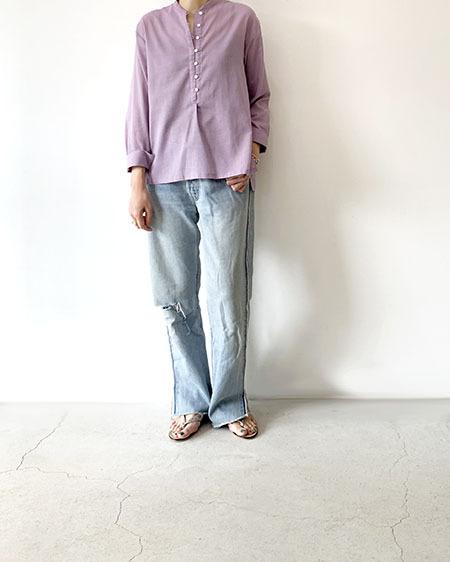 スタンドカラーシャツ / Liyoca
