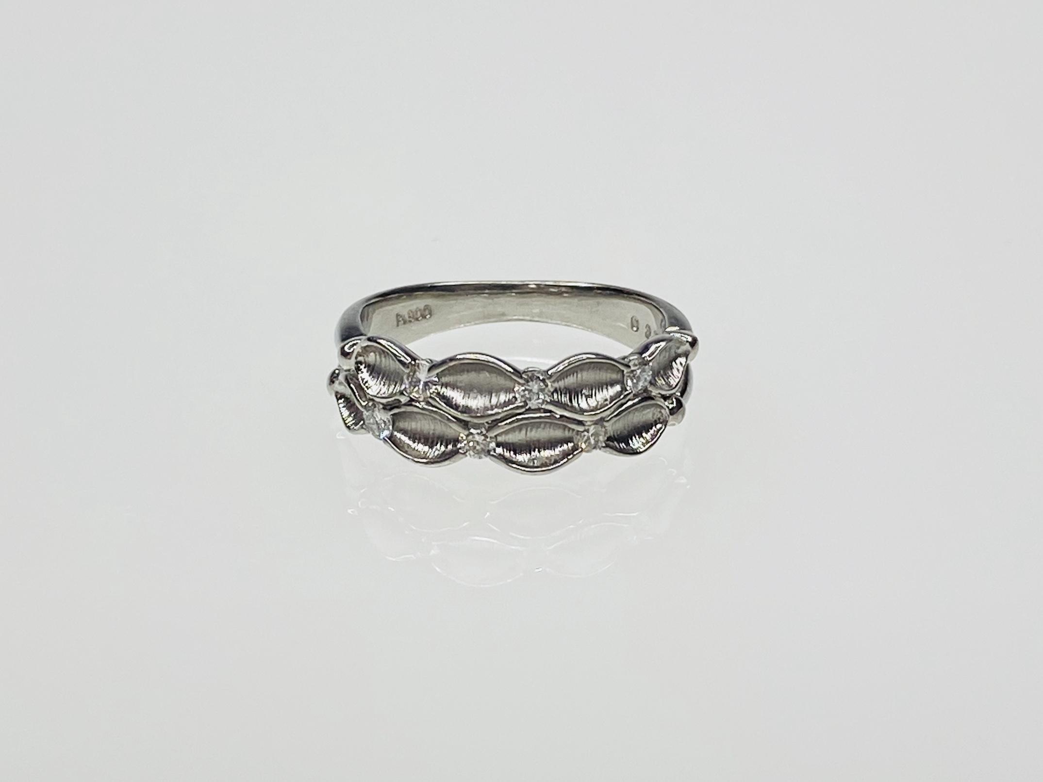 PT900  0.20ctダイヤデザインリング ●