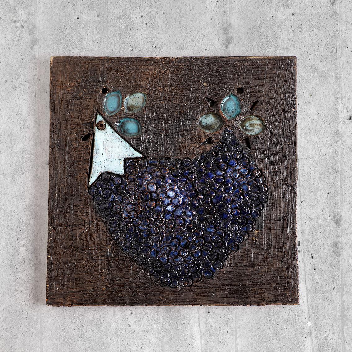 Tilgmans Keramik ティルグマン 鳥の陶板 北欧ヴィンテージ