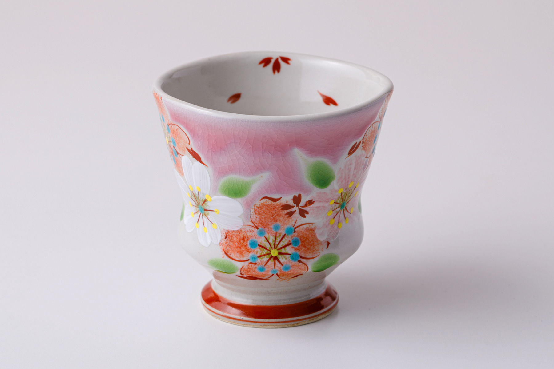 湯呑ペコ 桜の宴ピンク