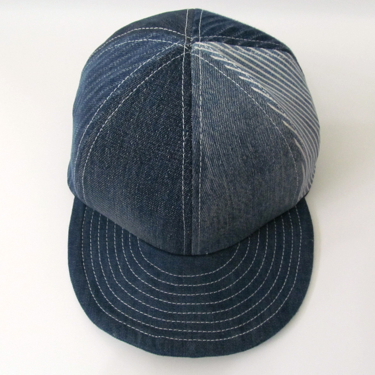 DENIM CRAZY PATTERN MODIFIED CAP