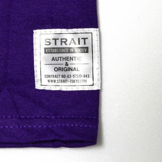 STRAIT LOGO T-SHIRTS #PURPLE