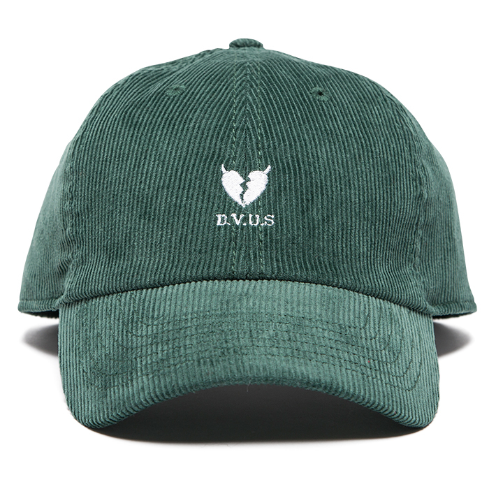 【Deviluse | デビルユース】Heartaches Corduroy Cap(Green)