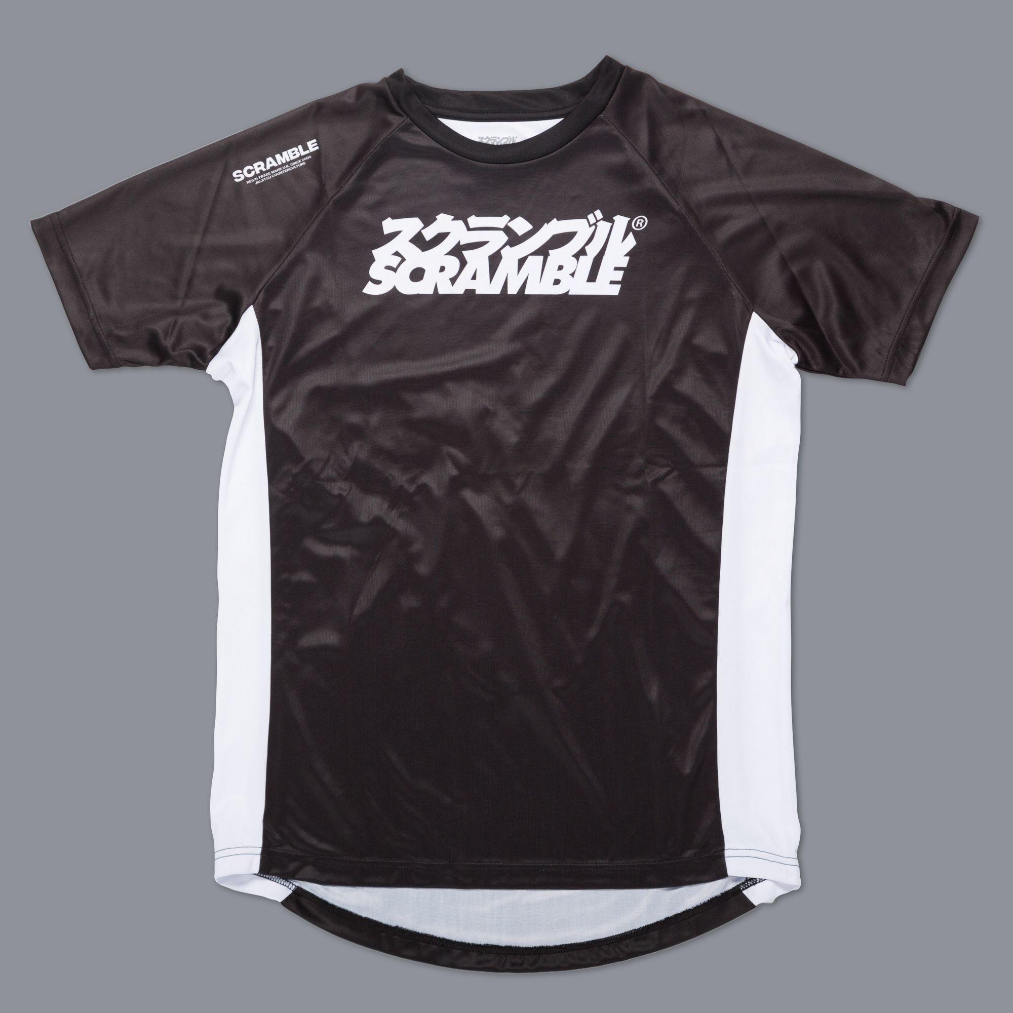 "SCRAMBLE ""Technique"" トレーニングシャツ ブラック"