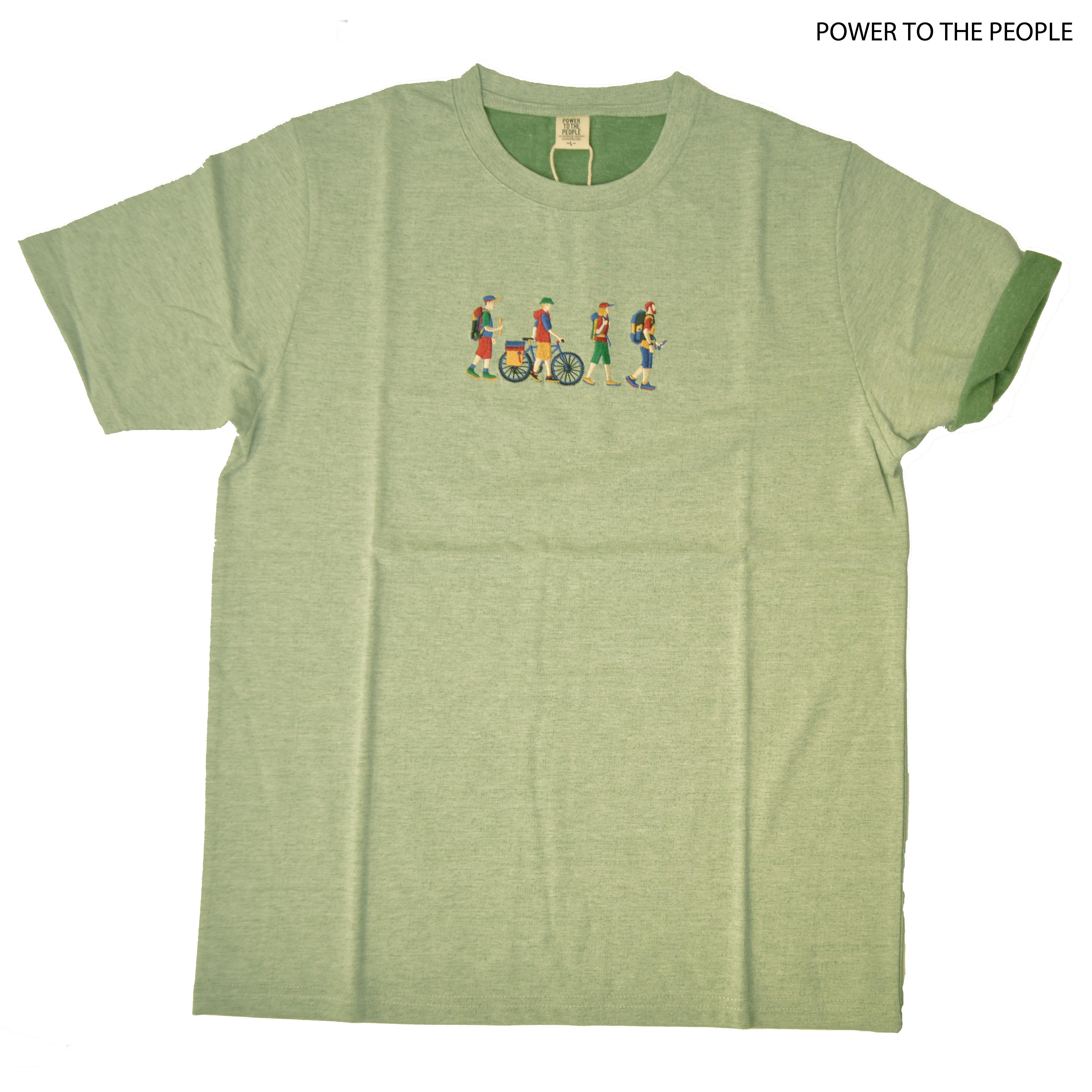 プレーティング天竺JOURNEY刺繍Tシャツ NO0512114