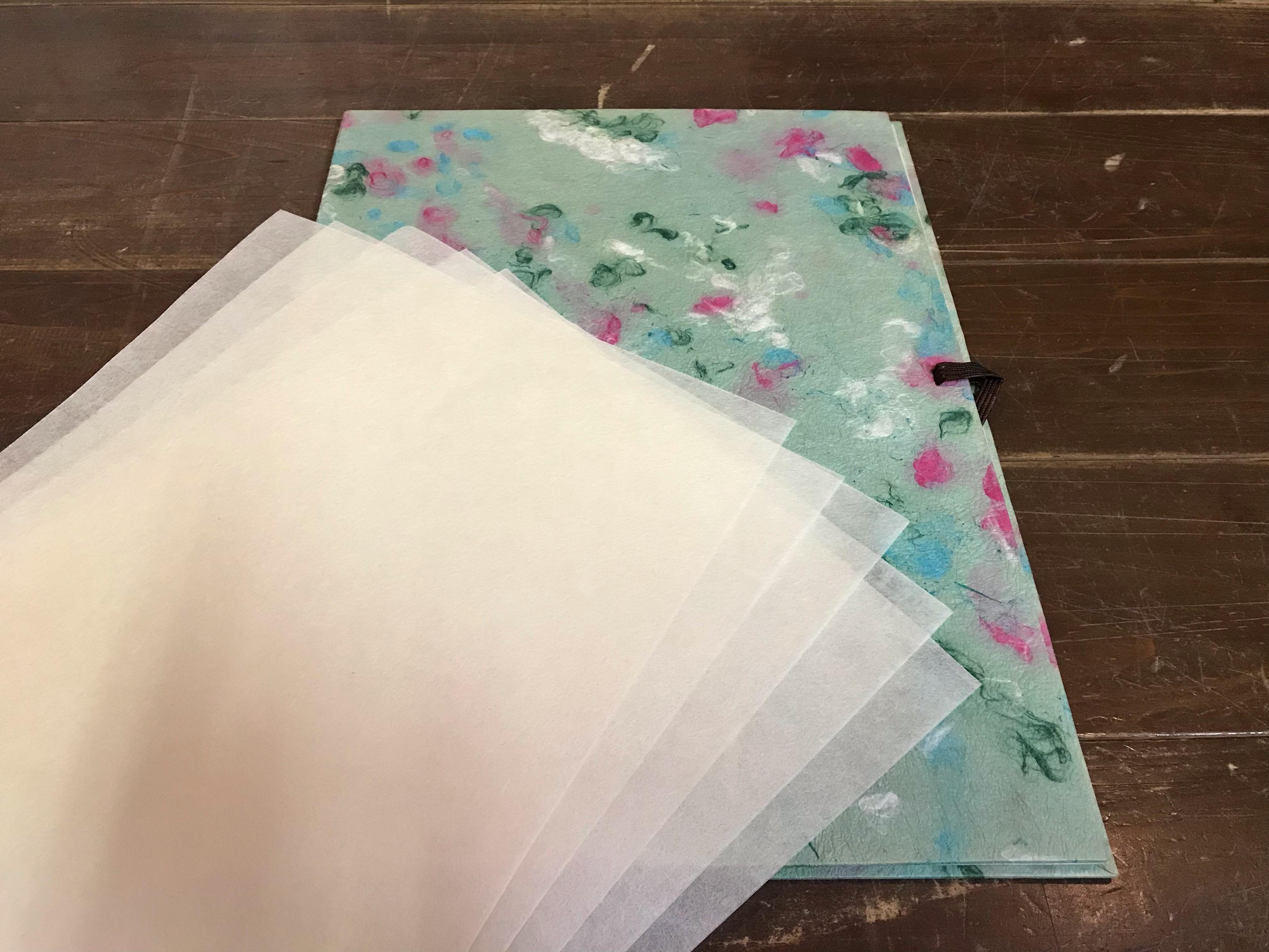 【 BASE 限定品】 京都黒谷和紙   半紙ばさみと高級半紙セット