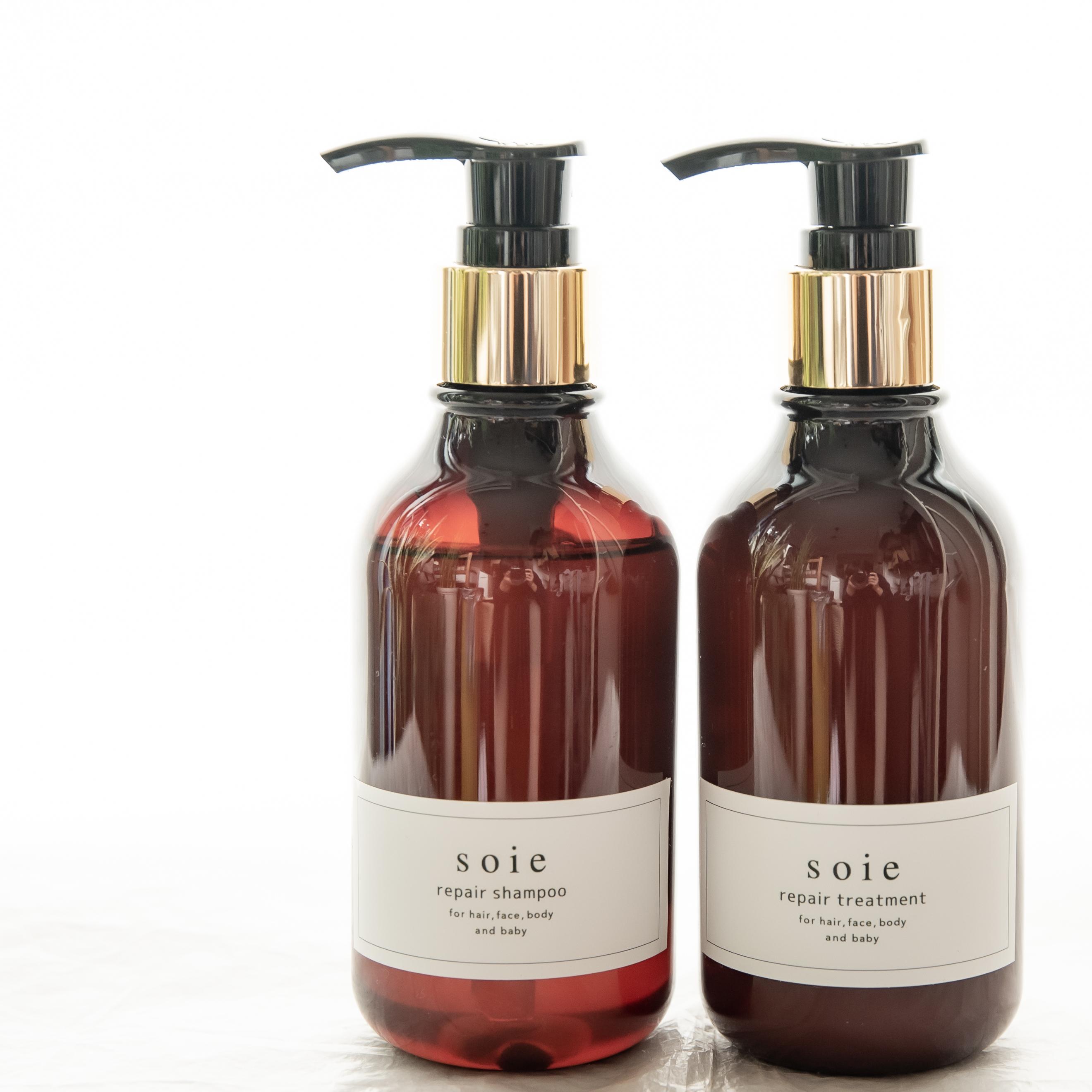 """【特別価格】全身保湿シャンプー 200 ml & トリートメント200 g プレミアムパッケージ2点セット ノンシリコンなのにキシキシしない """" うるツヤ """" の髪に 敏感肌・乾燥肌の方にも安心・安全"""