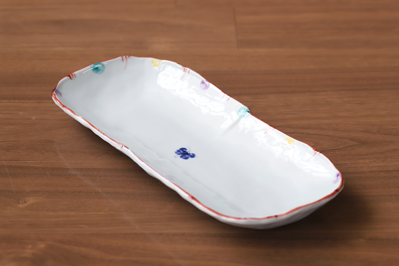 松尾貞一郎 楕円長皿 201006-K14 貞土窯(有田焼)