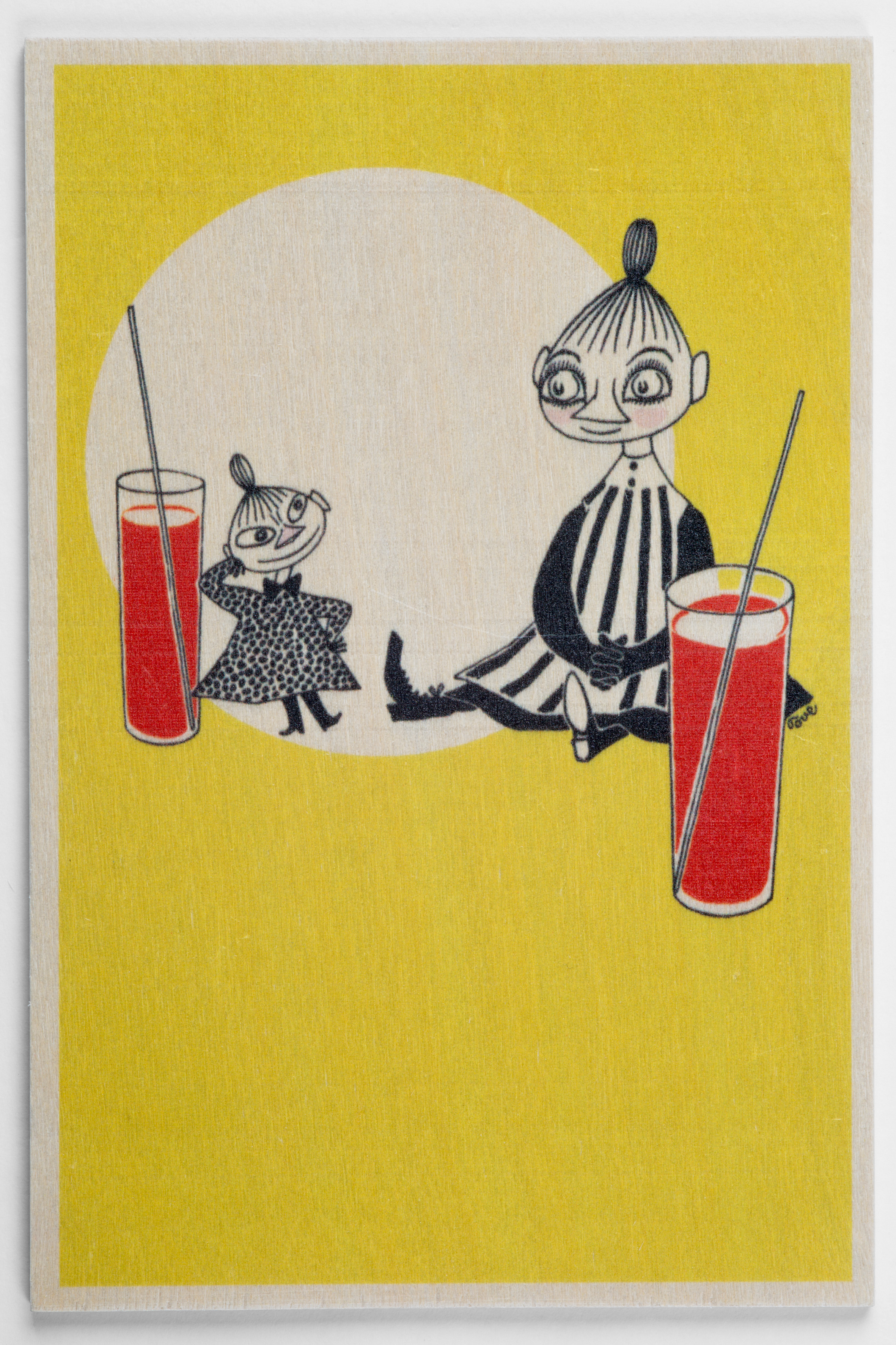 白樺ポストカード 10x15cm ムーミン 「レモネード」