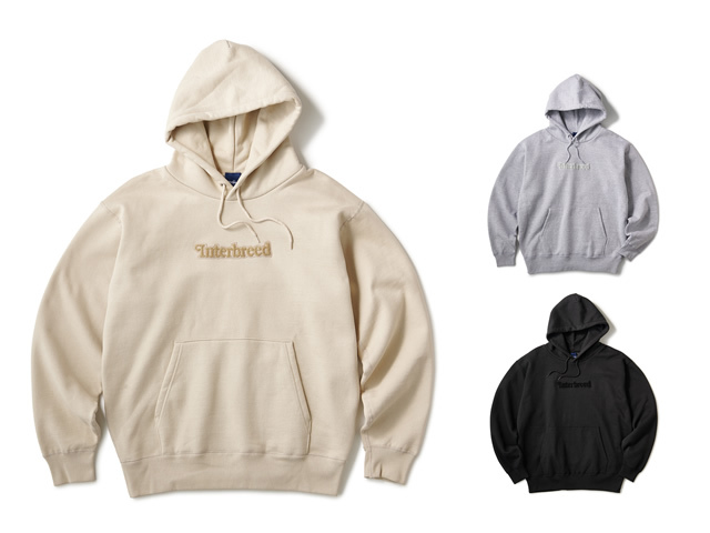 INTERBREED|Pile Patched Logo Hoodie