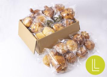 【大人気!動物パンも入った】まころパンおまかせボックスLサイズ