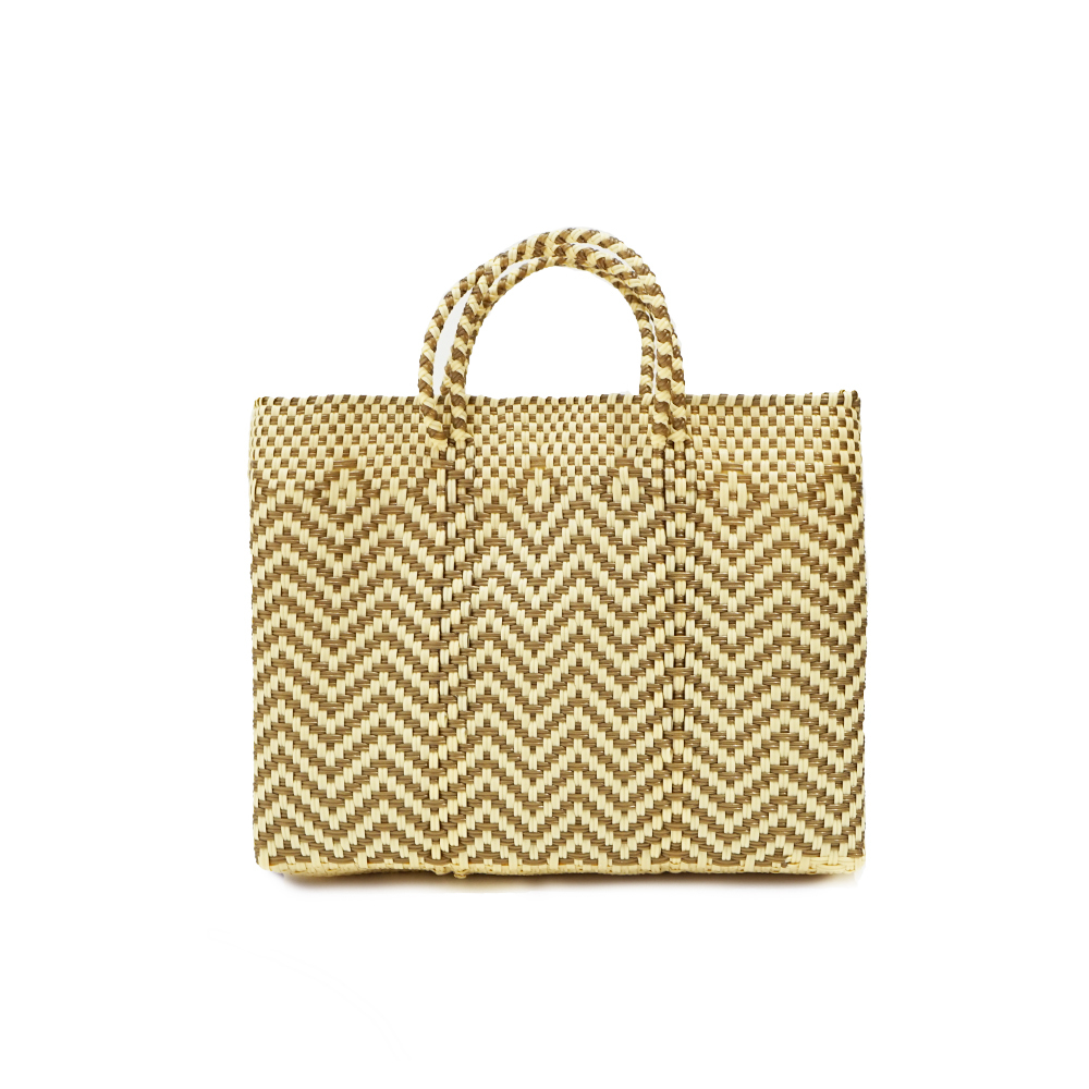 MERCADO BAG  JAGGY SHORT (S)  -  Gold × Cream
