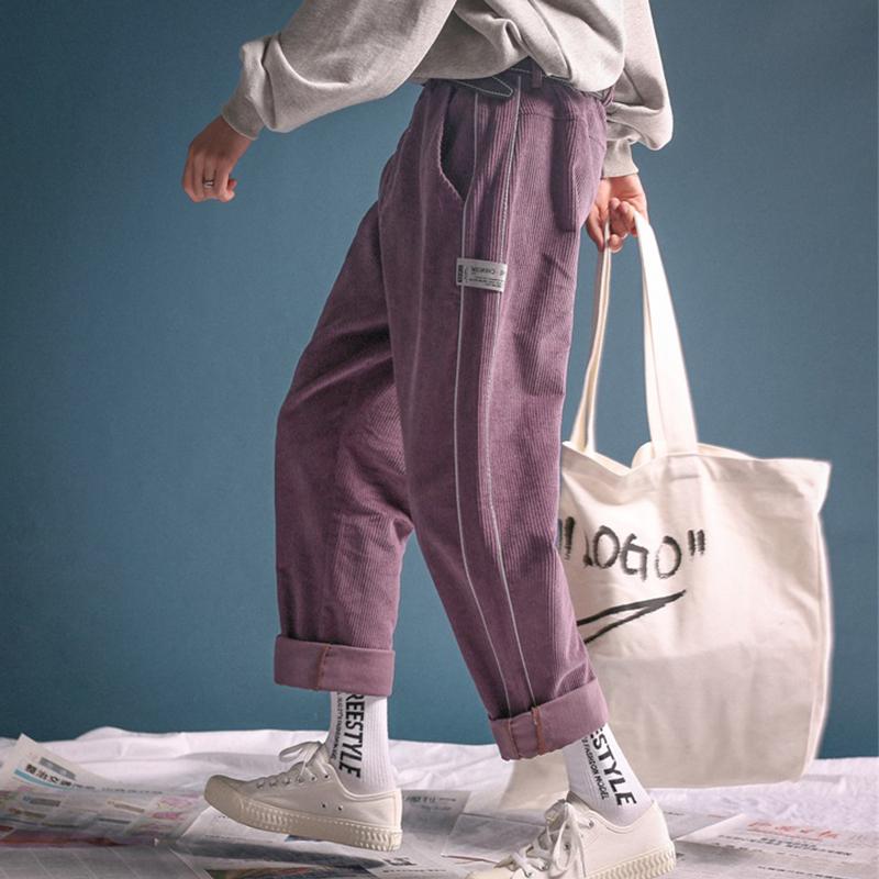 【送料無料】メンズライク♡ カジュアル コーデュロイ ワイドレッグ  ストレートパンツ