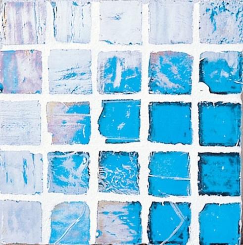 Staind Grass Mosaic【Hawaiian Blue/Pearl】ステンドグラスモザイク【ハワイアンブル-/パ-ル】