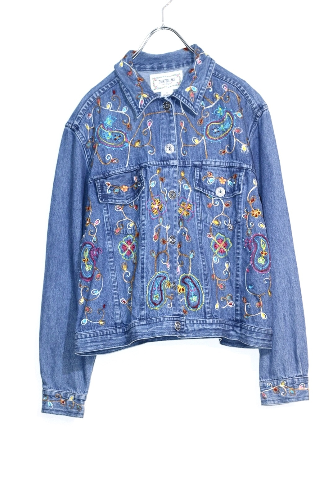 刺繍 denim jacket