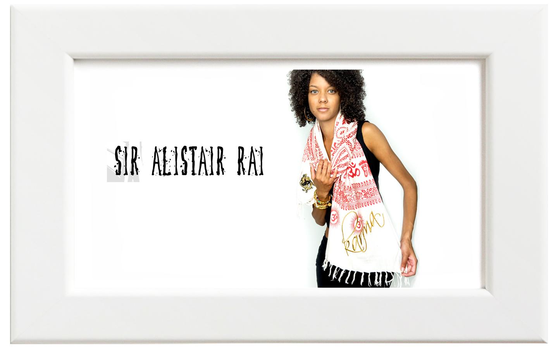 Sir Alistair Rai/サー・アリステア・レイ Karma Raja Wrap スカーフ/ホワイト