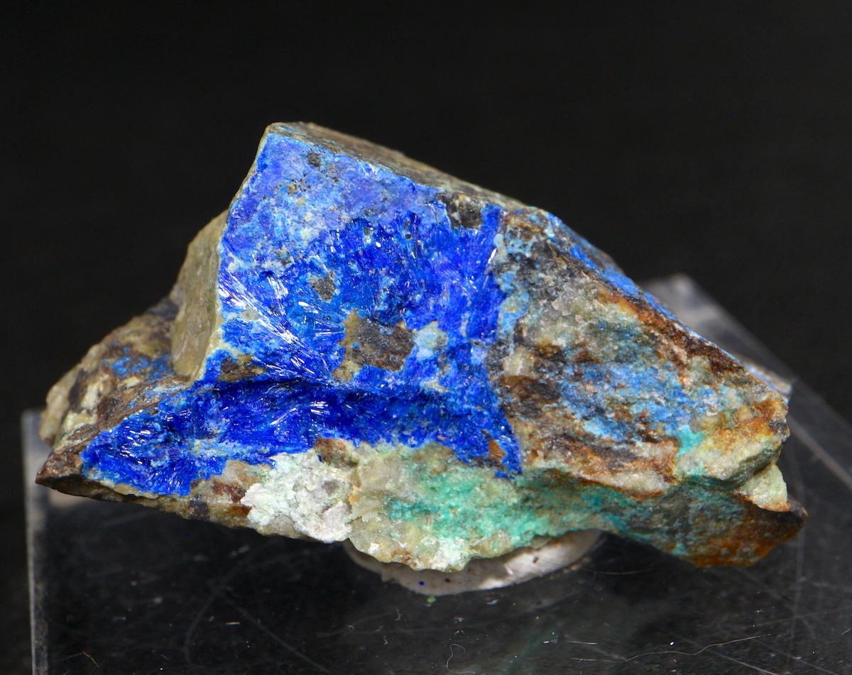 リナライト & ブロシャン銅鉱 青鉛鉱  16g LN010 鉱物 原石 天然石 パワーストーン