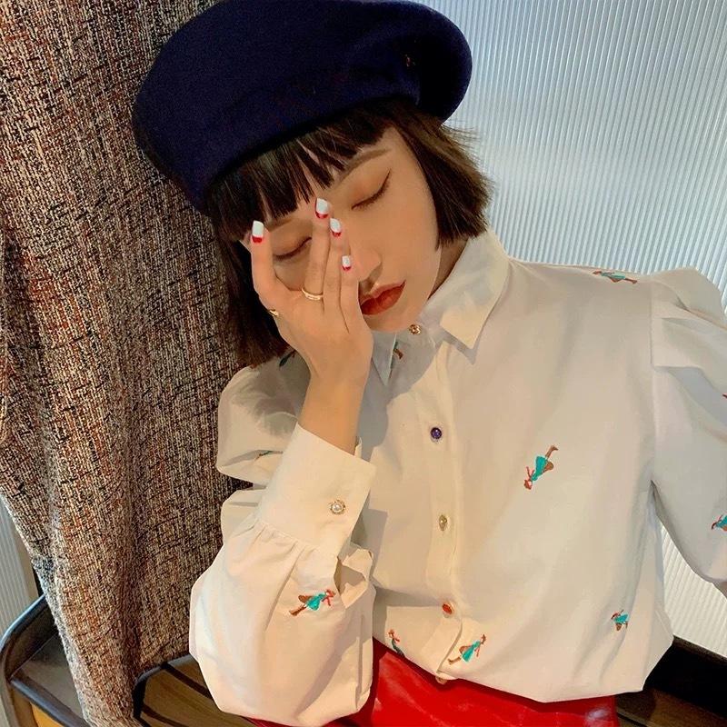 girl mini embroidery shirt