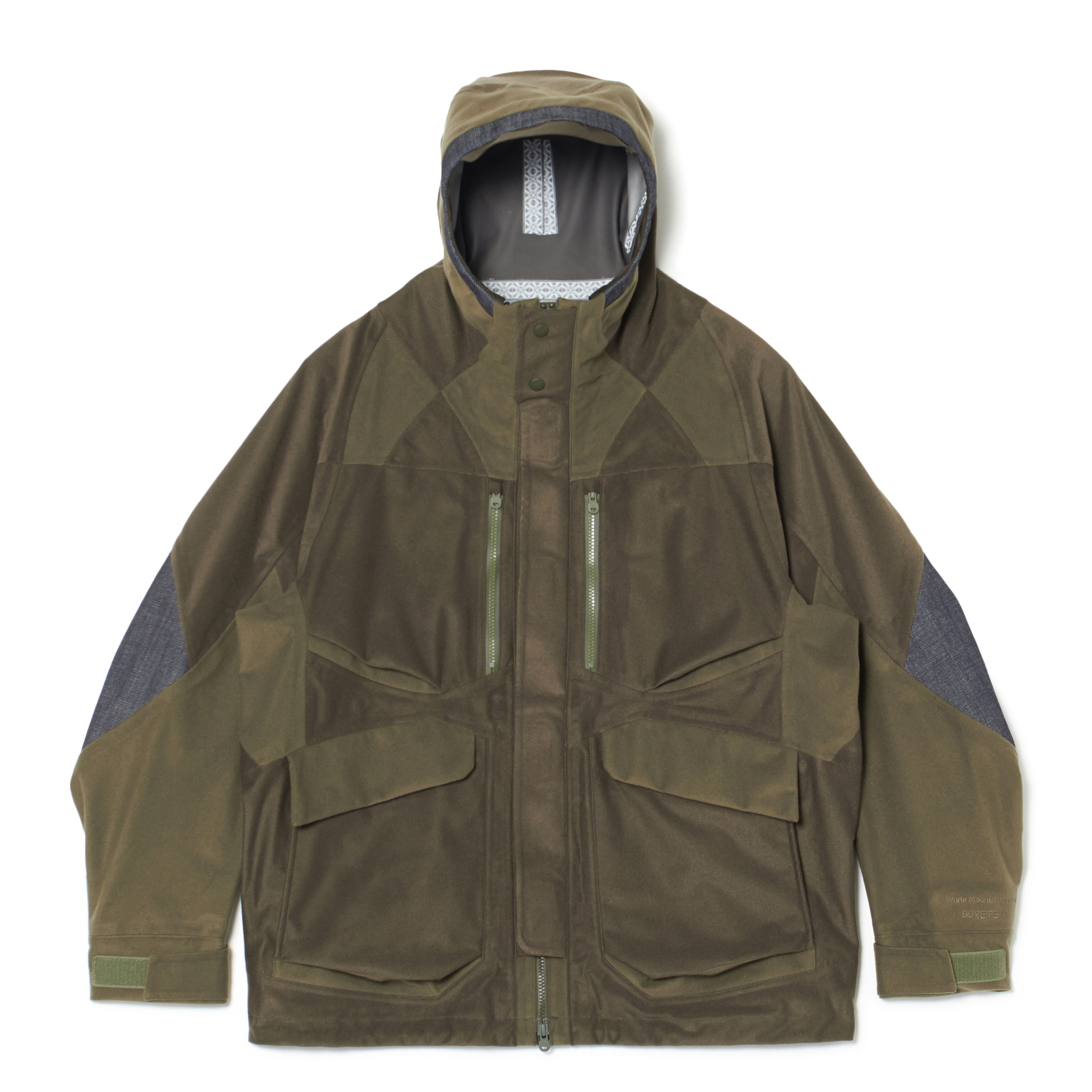 GORE-TEX FLEECE MIXED MOUNTAIN PARKA - KHAKI