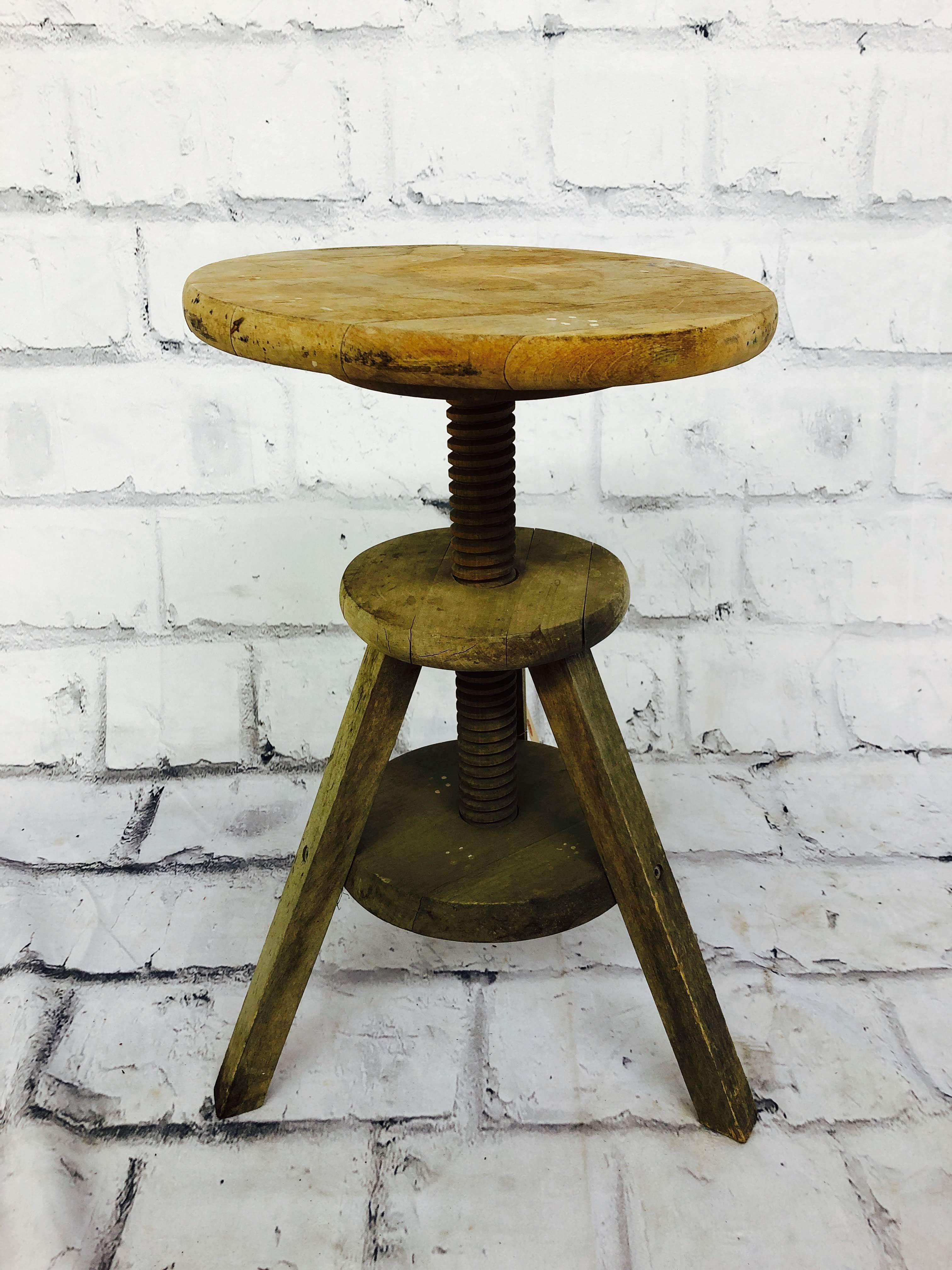 品番5780 スツール アトリエスツール チェア 木製 椅子 インテリア アンティーク