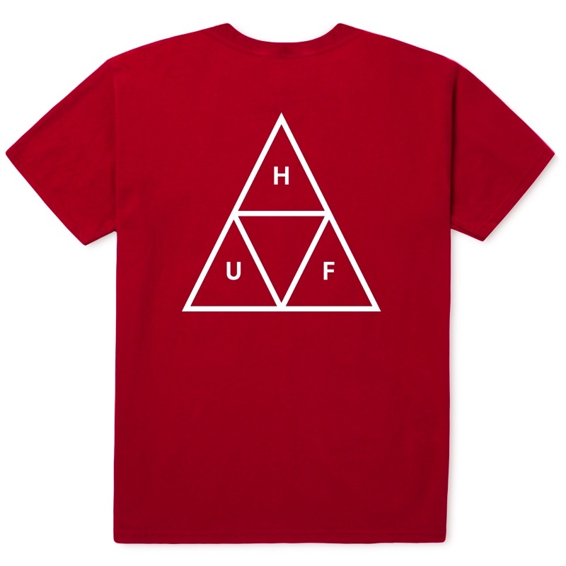 HUF ESSENTIALS TT S/S TEE RESORT RED