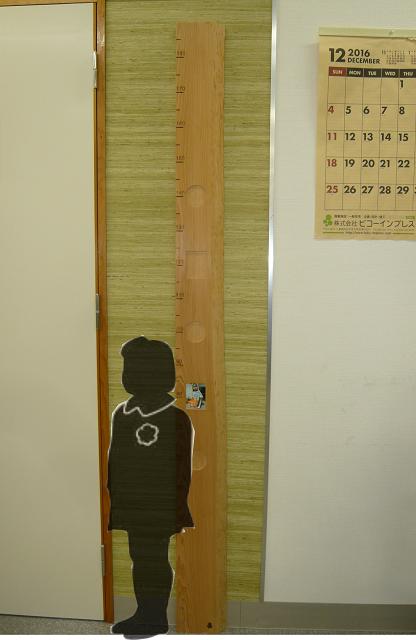 背くらべ 木製 - 画像1