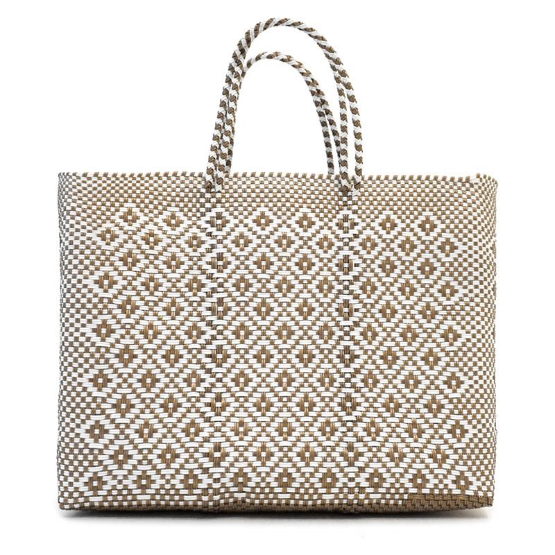 MERCADO BAG ROMBO - White x Gold(L)