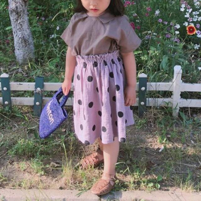 ポルカドットスカート Lavender【691】