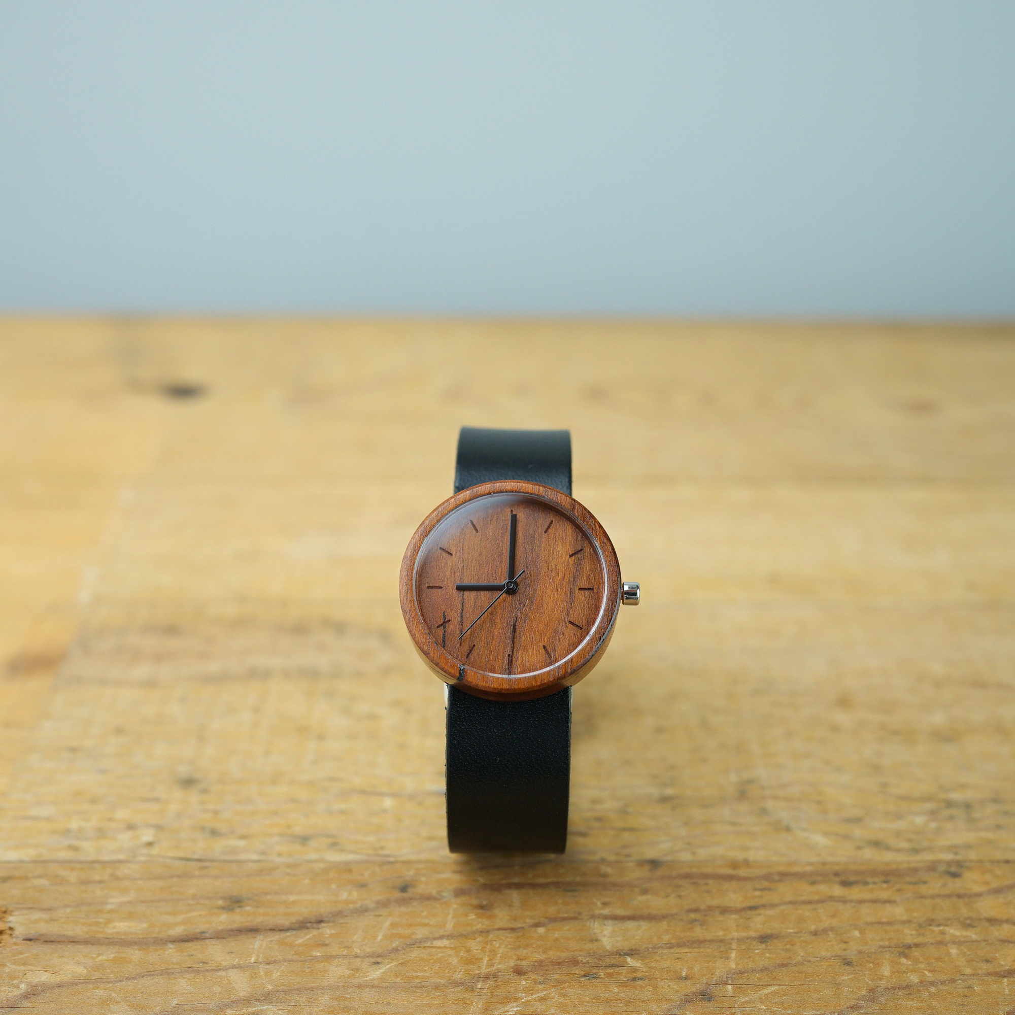 Cherry wood - Japanese leather - M (Line Ver.)