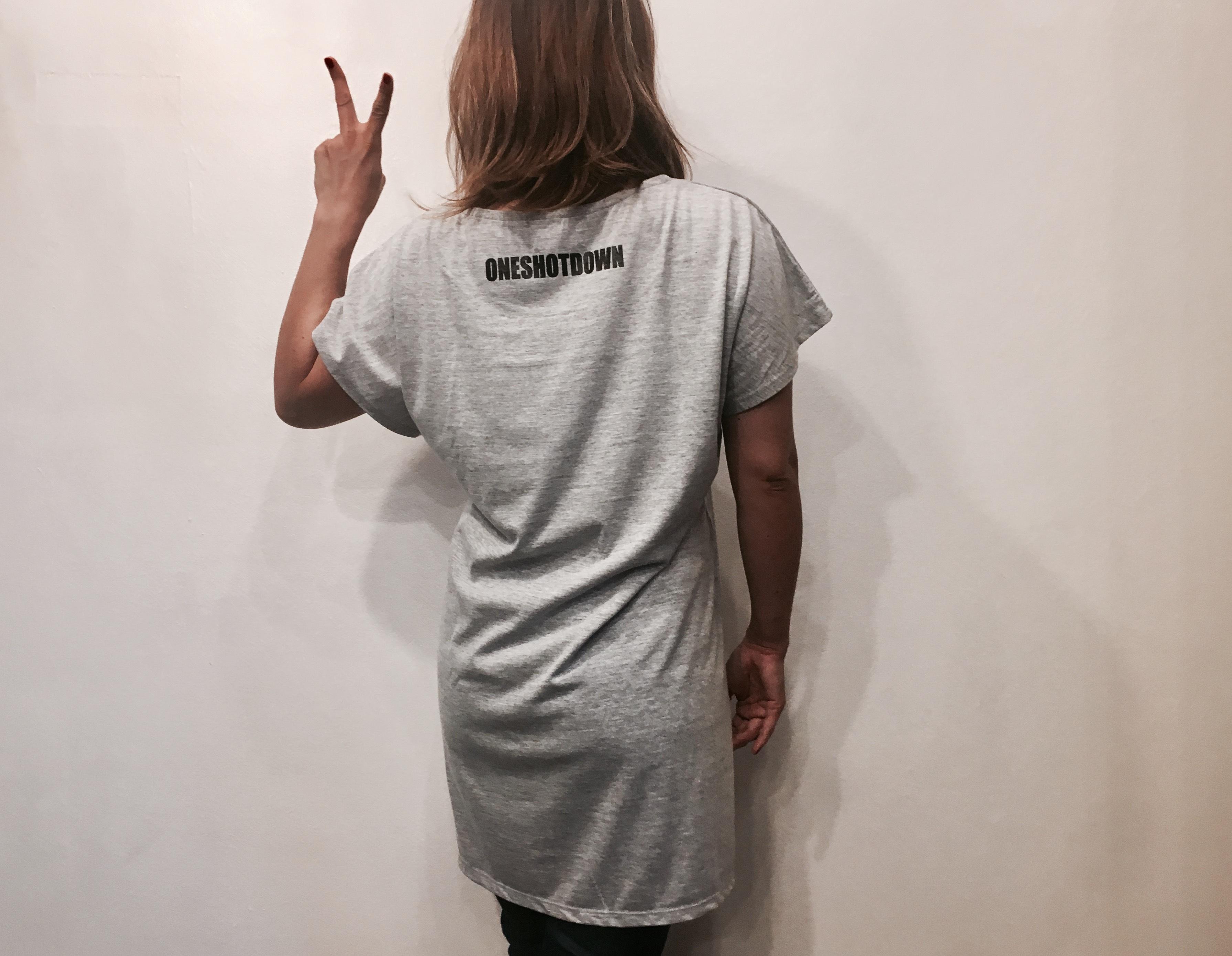 ONESHOTDOWN ガールズ ワンピースTシャツ - 画像3