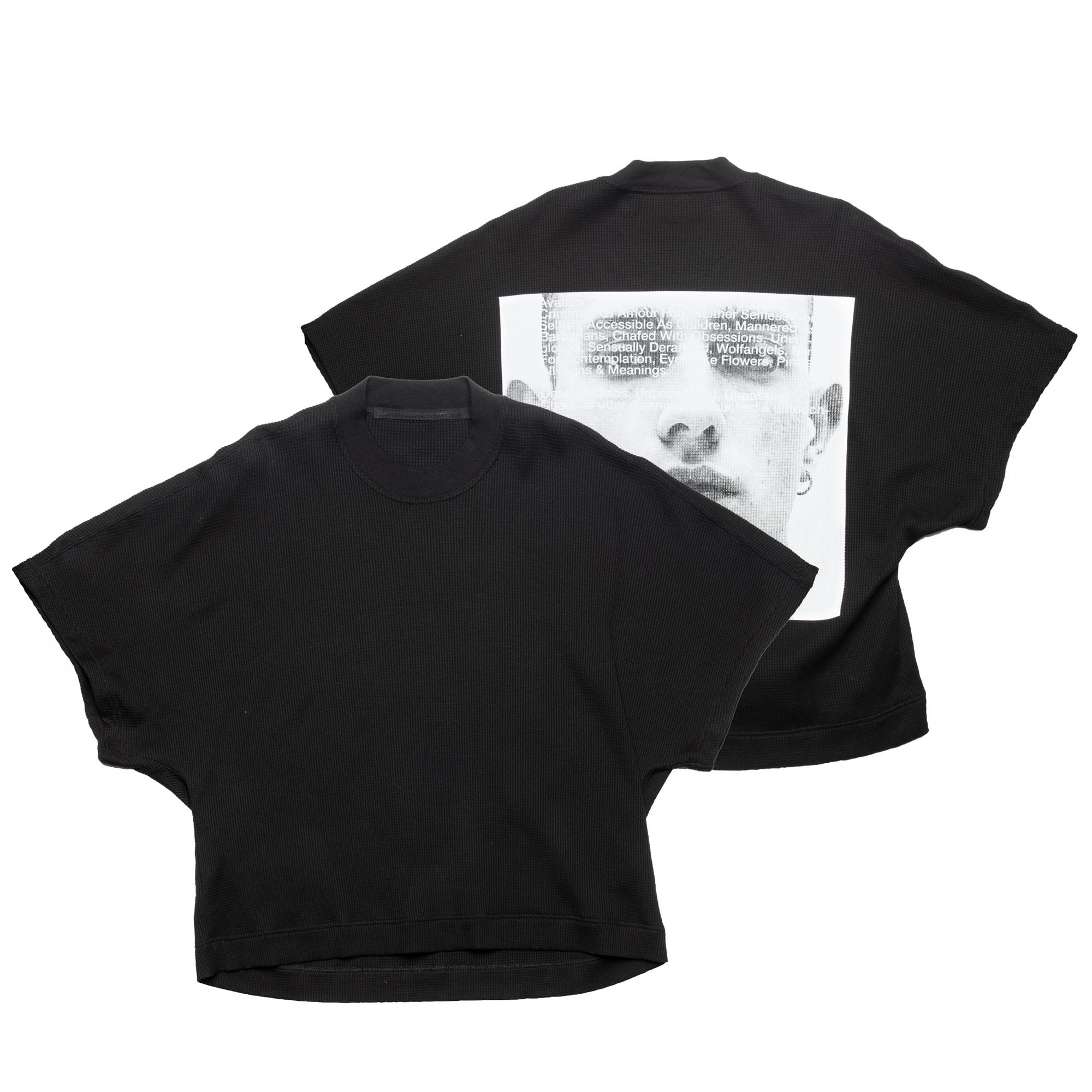 657CPM23-BLACK / プリント カイトTシャツ