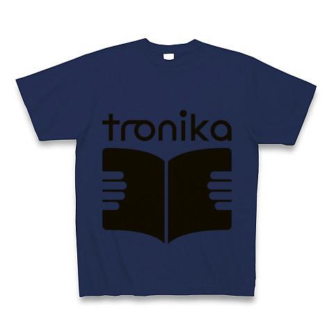 トロニカ ロゴ Tシャツ(ジャパンブルー) - 画像1