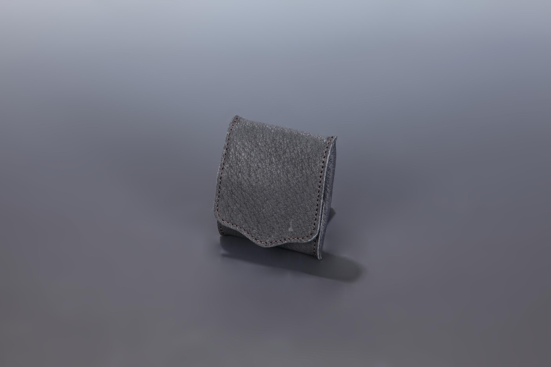 【国産イノシシ革】Designers Jewelry buff コラボコインケース(Black)【NOTO Leather使用】