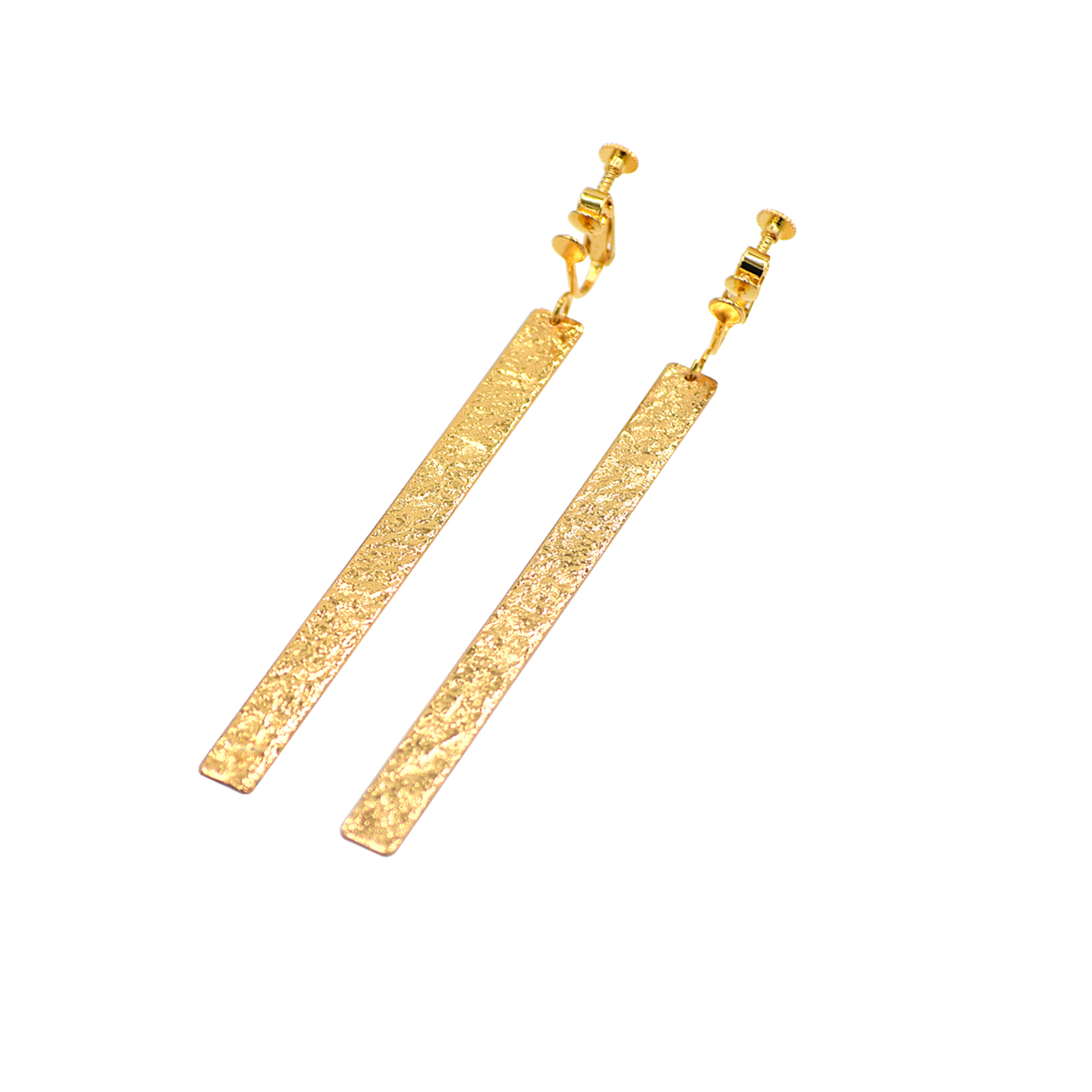 《イヤリング》TIN BREATH Earrings 7×80mm Gold