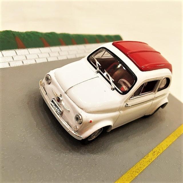 Fiat 595 Abarth Tetto Rigido Diorama Story MODELLINO DIE CAST 1:43 【CANENCO】【1個のみ】【税込価格】