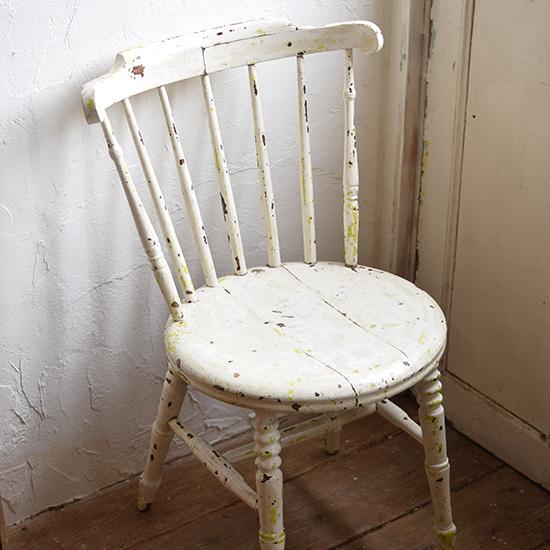 シャビーホワイトチェア 椅子