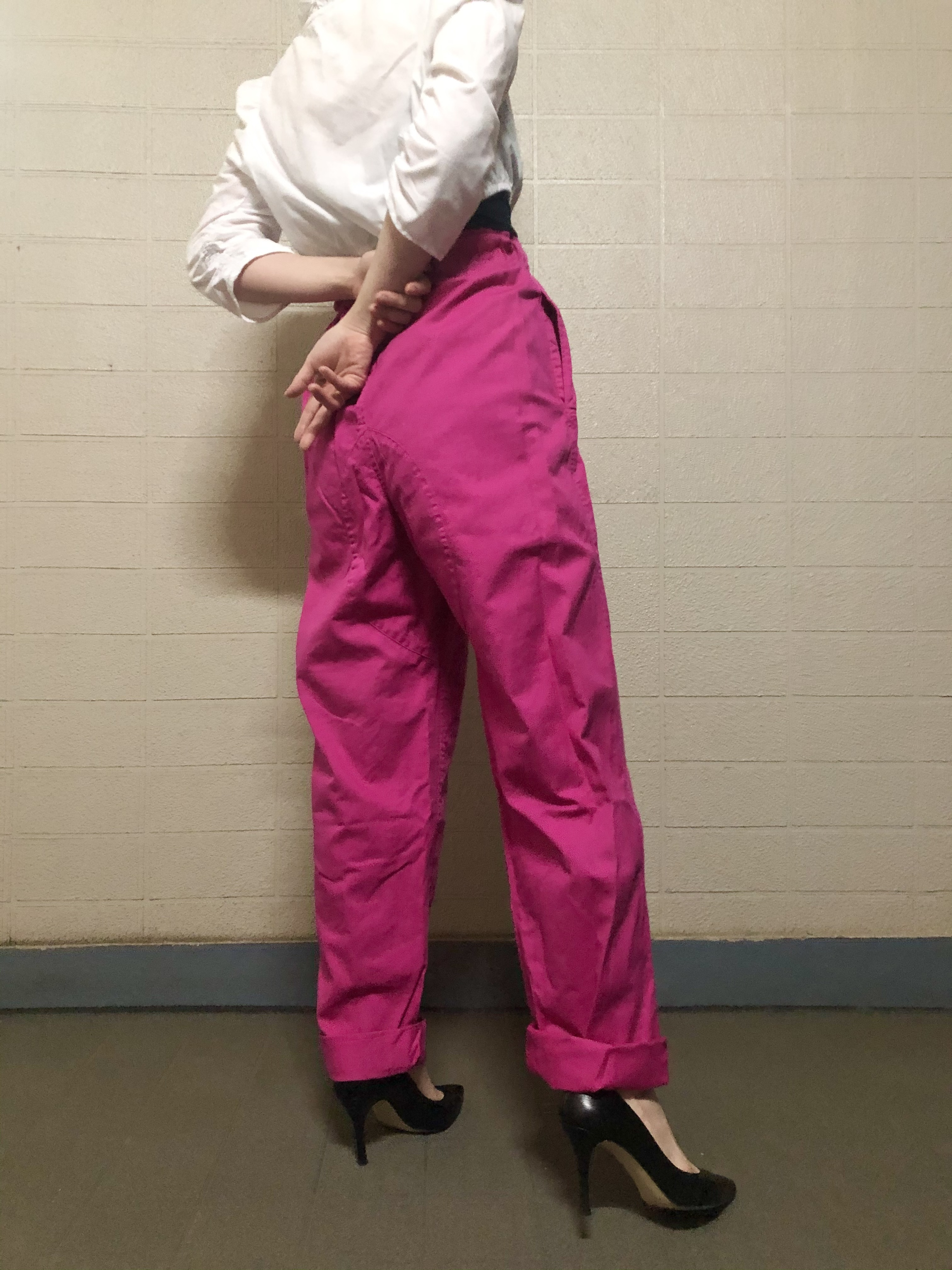 Military hot pink pants