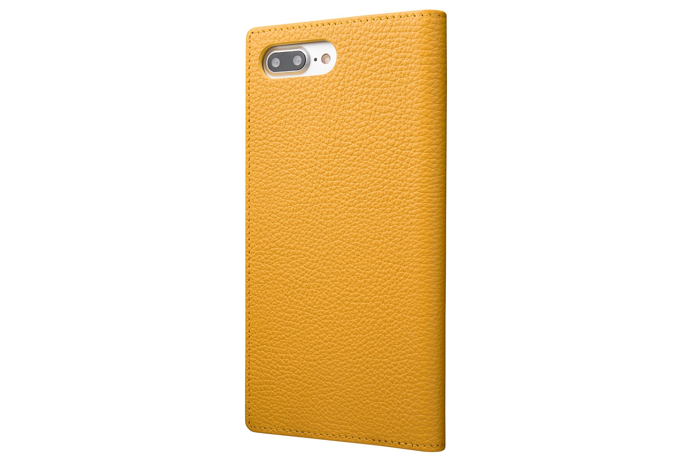 GRAMAS Shrunken-calf Full Leather Case for iPhone 7 Plus(Yellow) シュランケンカーフ 手帳型フルレザーケース - 画像2