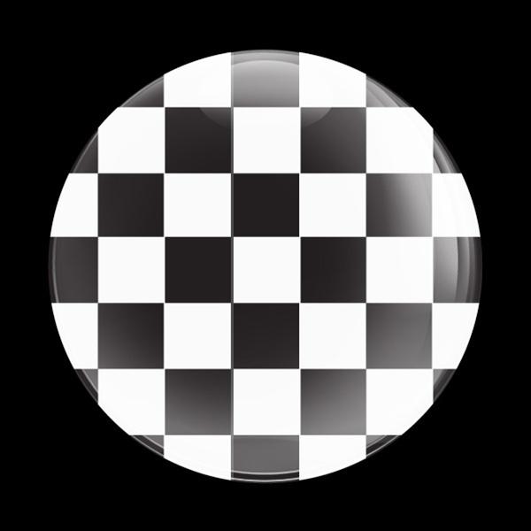 ゴーバッジ(ドーム)(CD0330 - FLAG CHECKER-BLACK) - 画像1