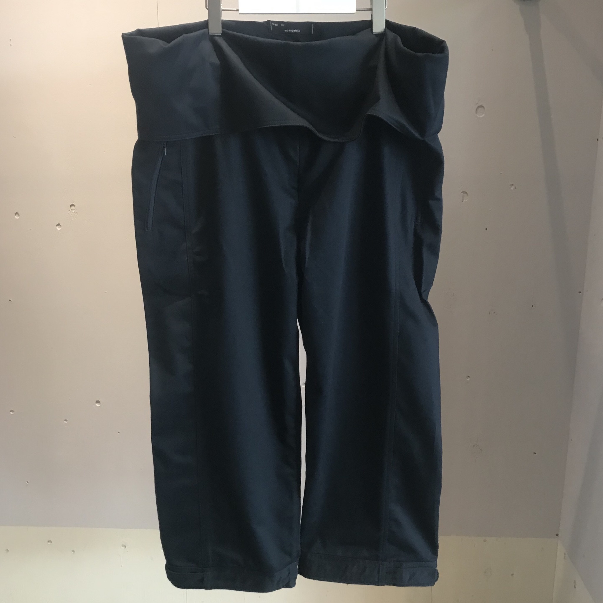 Cotton Chino Wrap Pant/IRON BLUE