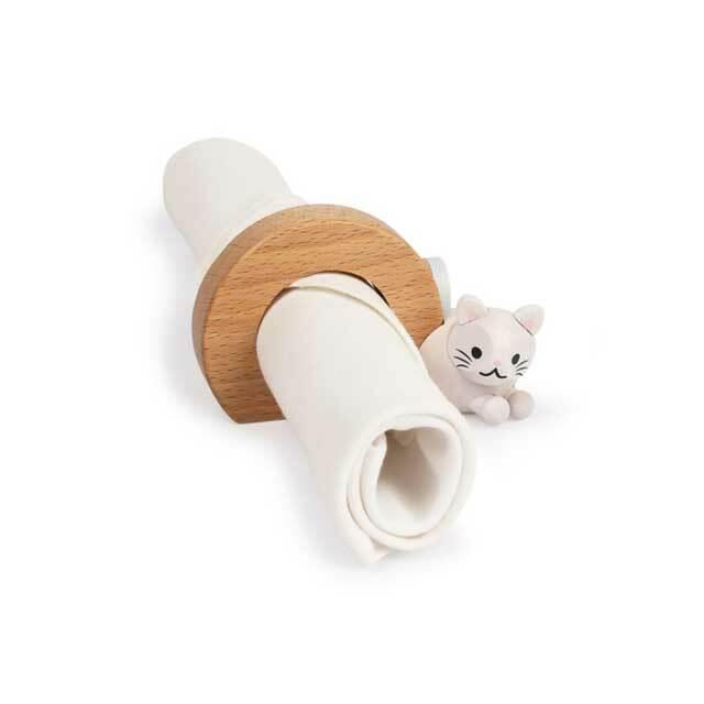 木製 猫のナプキンリング C