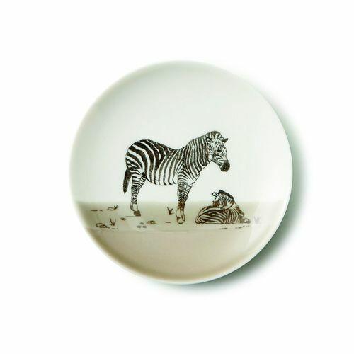 美濃焼 Zoo of matsuda 松田動物園【日本製】13cmプレート【シマウマ】