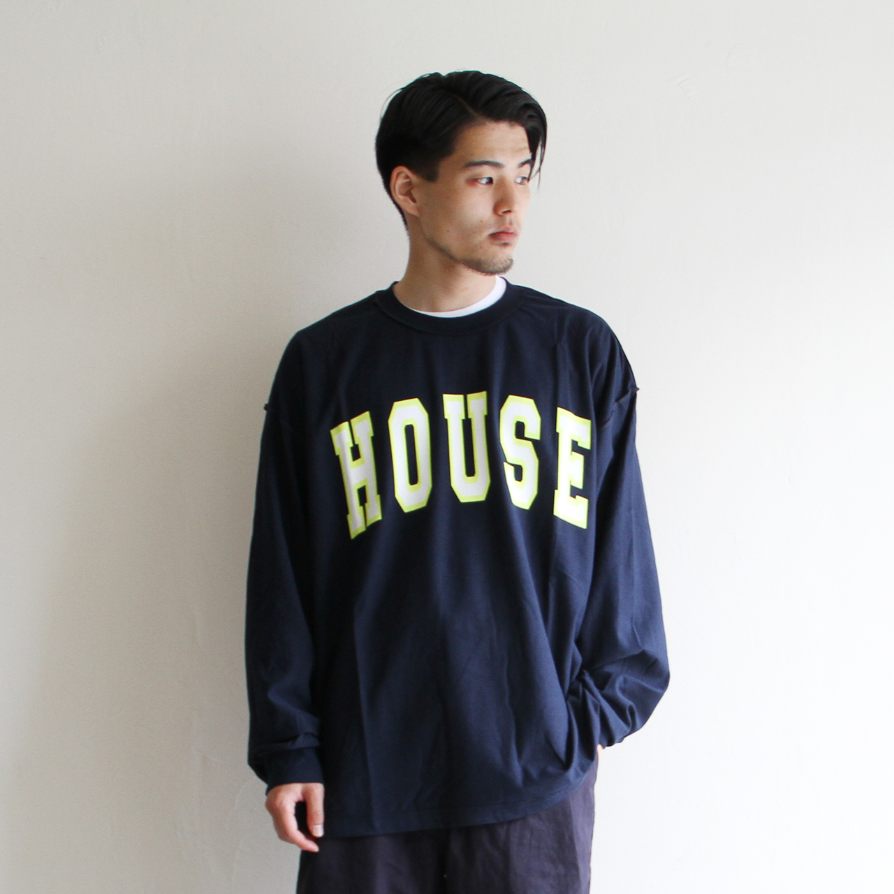 is-ness music【 mens 】house long sleeve t-shirts