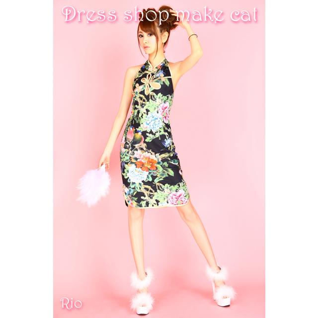 ミニチャイナドレス 衣装 コスプレ コスチューム キャバドレス ハロウィン 1008