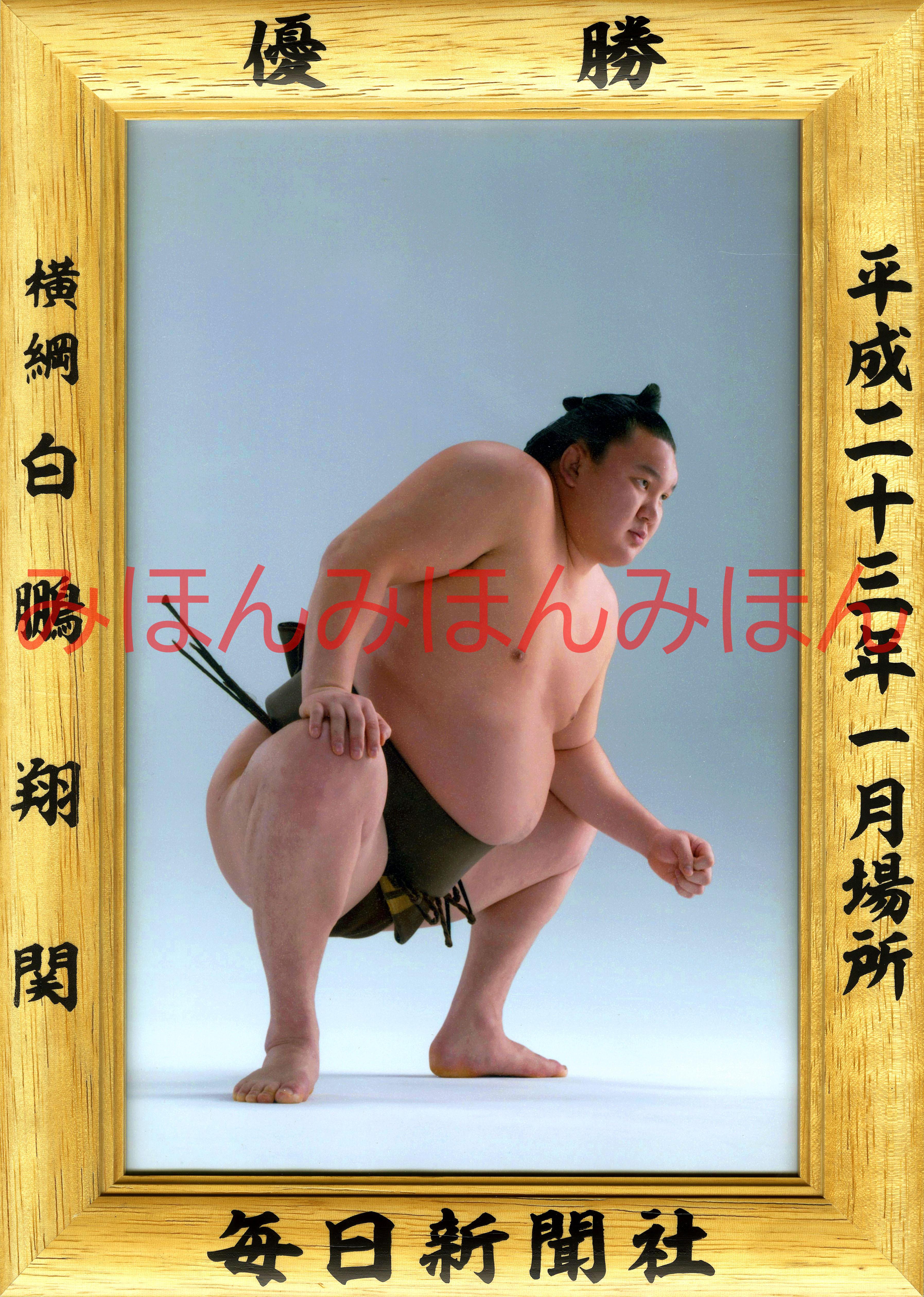 平成23年1月場所優勝 横綱 白鵬翔関(18回目の優勝)
