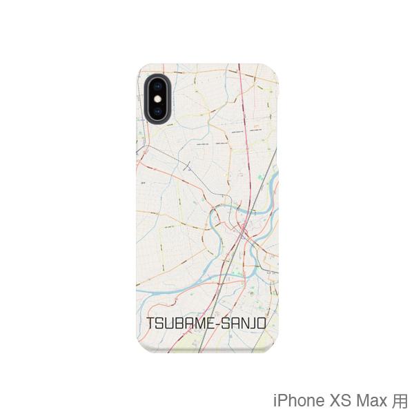 【燕三条】地図柄iPhoneケース(バックカバータイプ・ナチュラル)