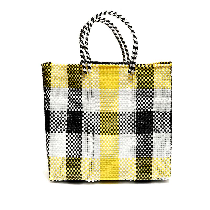 MERCADO BAG 3CHECK - Yellow x White x Black(M)