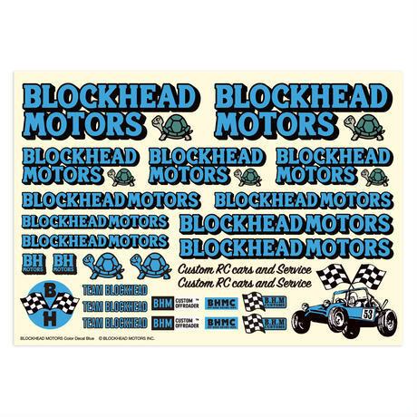 BLOCKHEAD MOTORS デカールシート ブルー